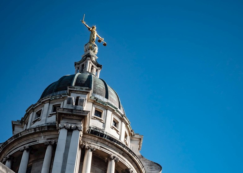 Lady Justice statue on top of Old Bailey