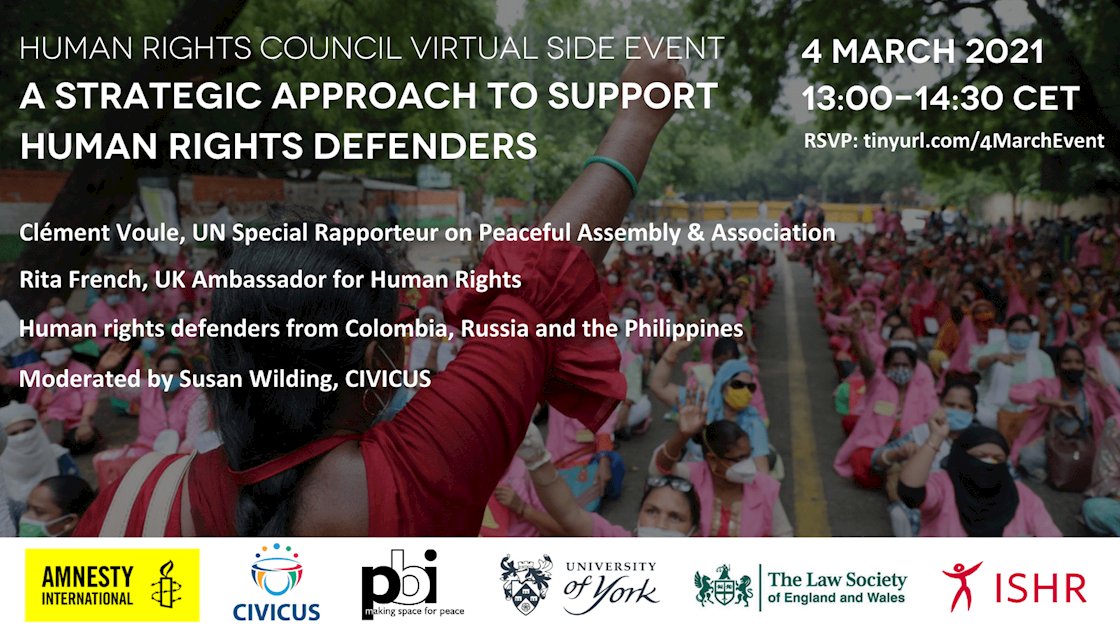 Human Rights Council Virtual Side Event 4 March 2021 13:00-14:30 CET