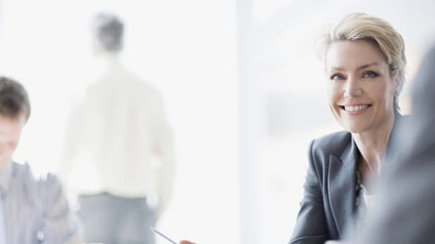 Woman in a meeting