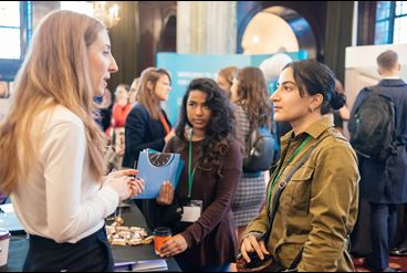 Members talking at Law Society event