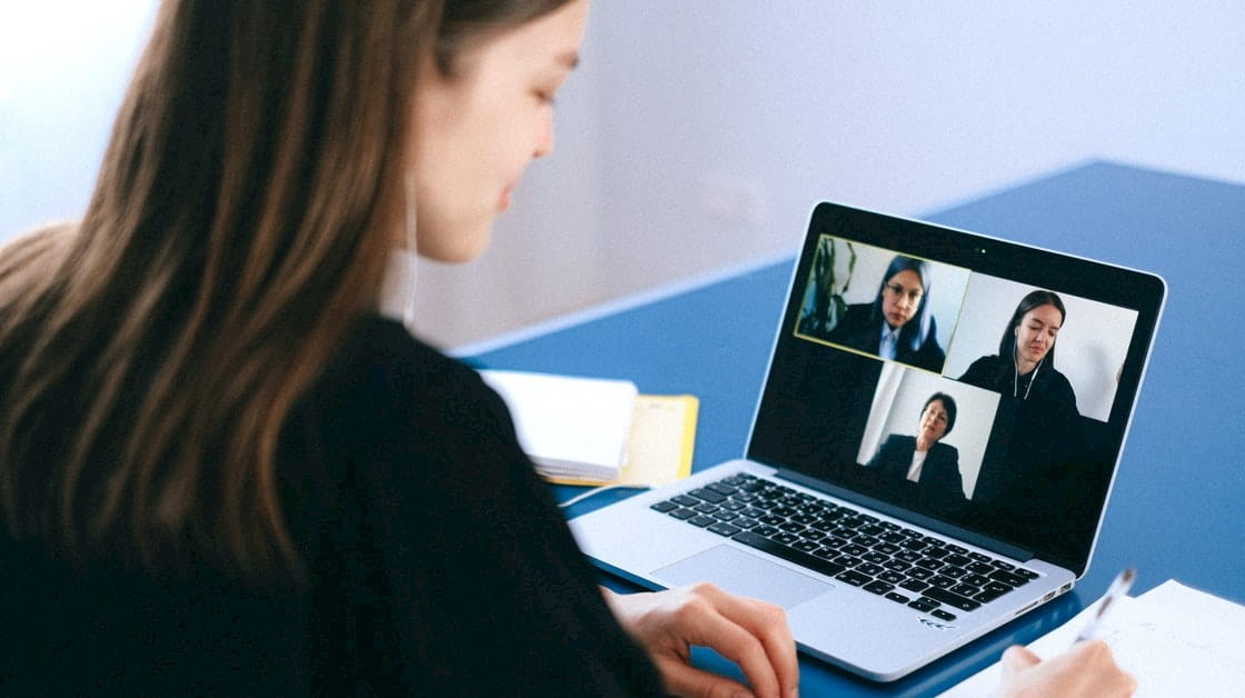 Solicitors on a video call