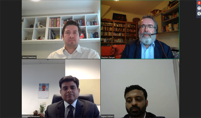 Speakers at our webinar on cross-border insolvency regimes between the UK and India