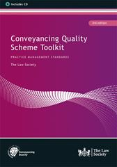Conveyancing Quality Scheme Toolkit book cover